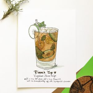 Pimm's Cup Cocktail Print