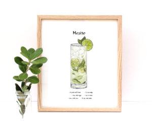 Mojito Cocktail Art Print