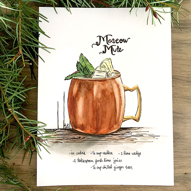 Moscow Mule art reproduction